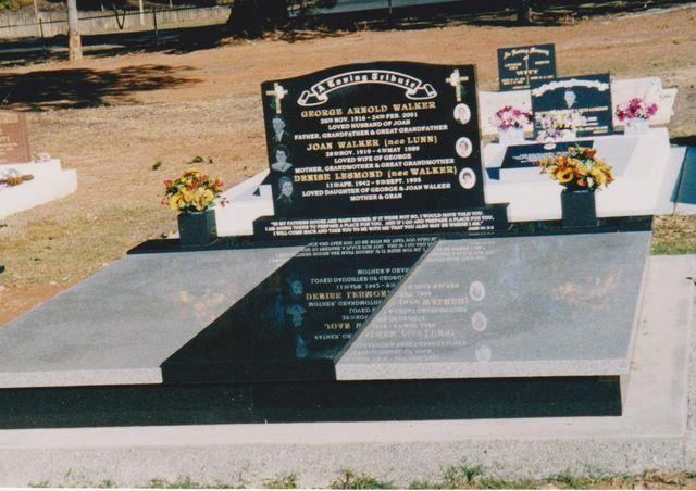 View of a custom designed memorial