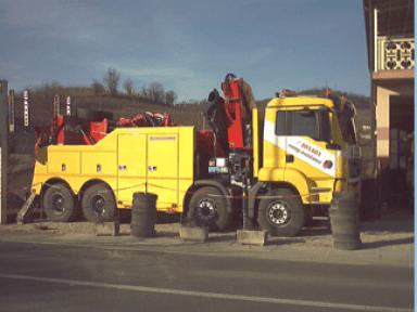 Forcone retrocabina, portata 40 ton, recupero, traino, mezzi pesanti, autocarri, autobus, furgoni, auto