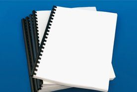 White plain paper ring bound booklets