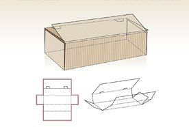 3D drawing of a folded box