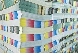 Stacks of printed paper