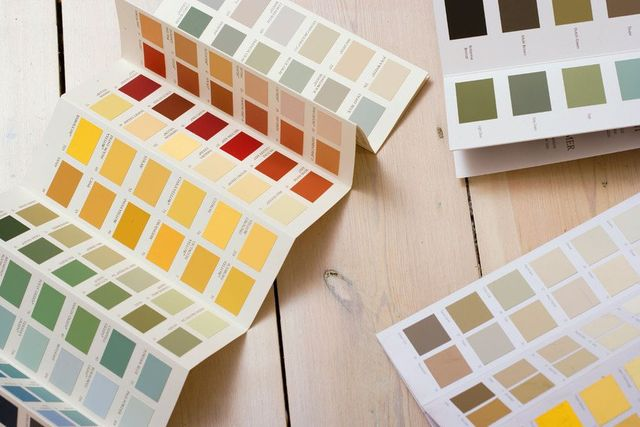 folded colour swatch brochures