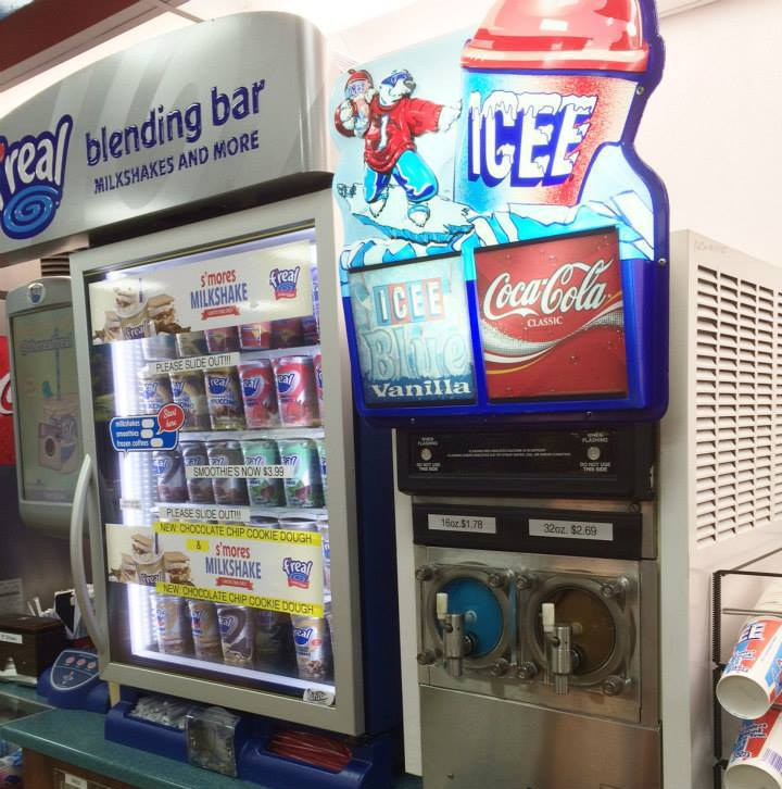 icee machine and refreshing cold drink