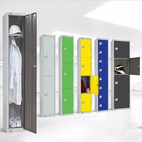 colourful cupboards