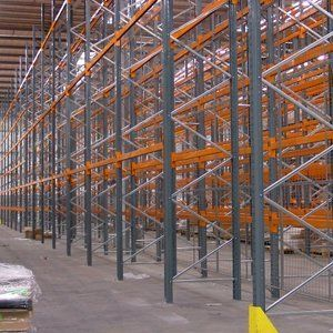 racks in a warehouse