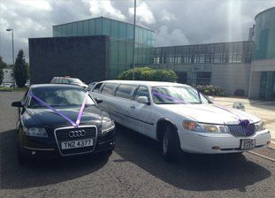 Luxurious stretch limousines