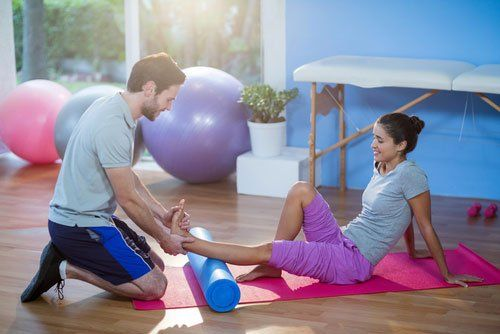 Physiotherapy for leg
