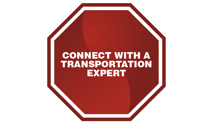 Red stop sign that says transportation experts