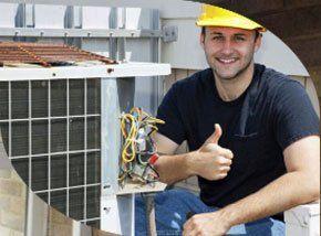un idraulico su un tetto
