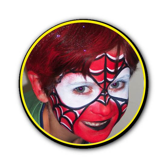Superhero painted face