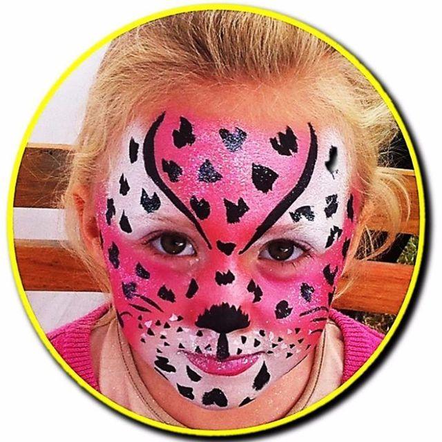 Animal print face paint