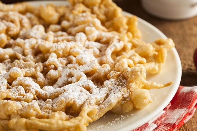 Funnel cake with powered sugar