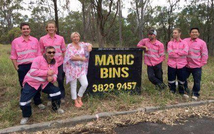 magic bins employees with a skip