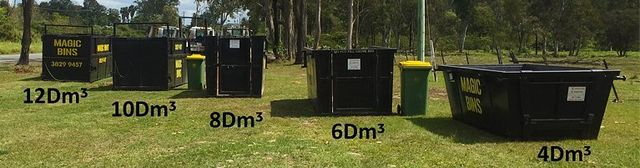 row of larger bins