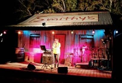 old cottage on stage