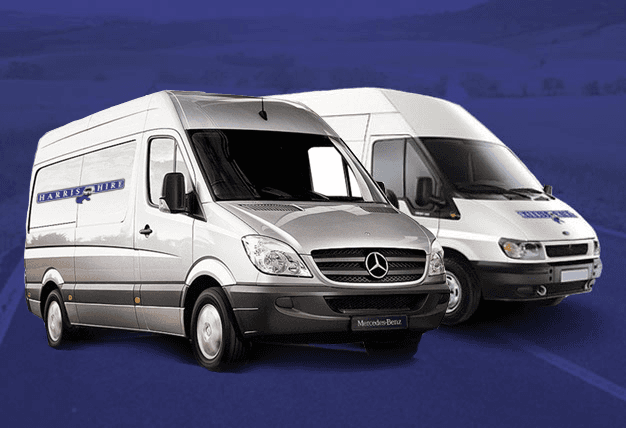 Two vans available from Harris Hire
