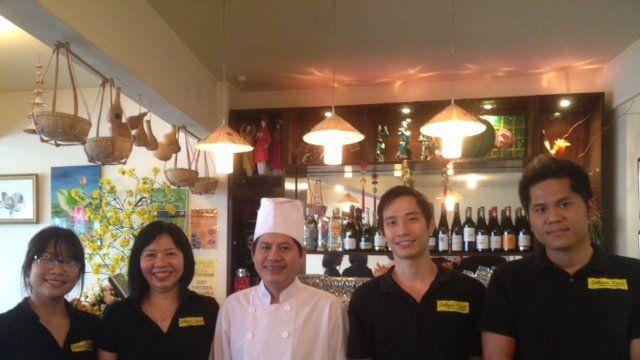 Team at Vietnamese restaurant in Wellington
