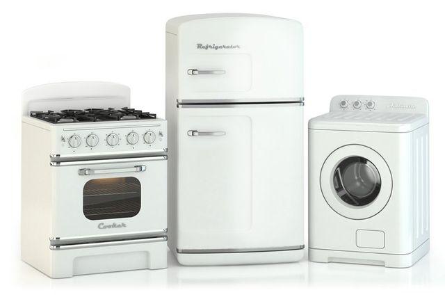 un forno, frigorifero, lavatrice