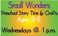 Small Wonders Preschool Story Time