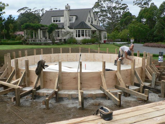 rain water storage systems water feature concrete solution custom clarke Northland