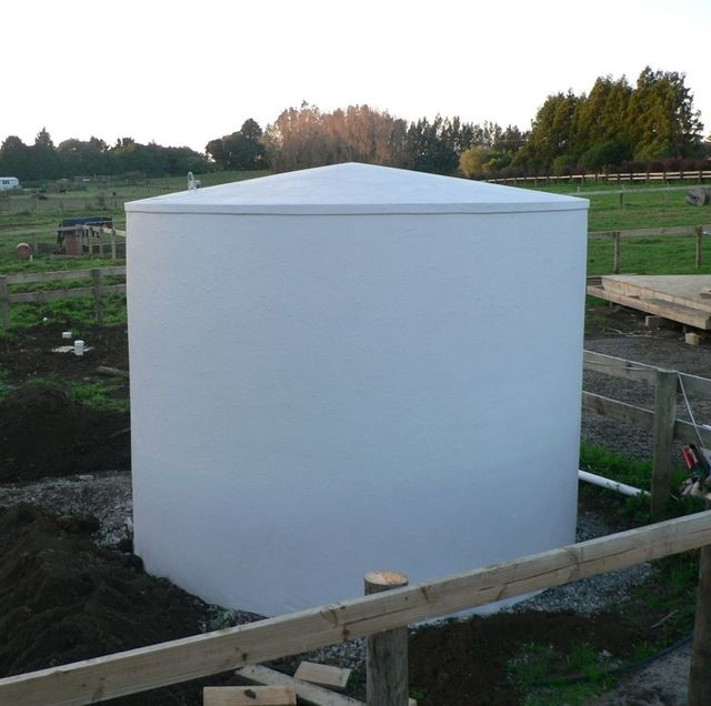 On site concrete water tank northland
