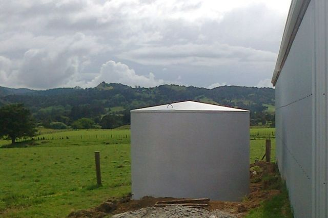 water tank clarke concrete on site northland
