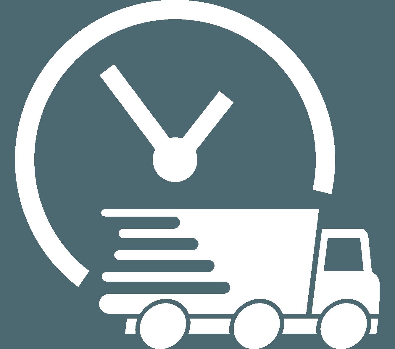icona spedizione con camion