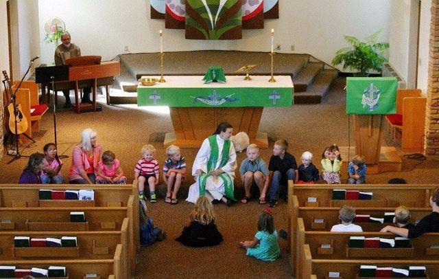 Children's activities at the church in Spring Prairie