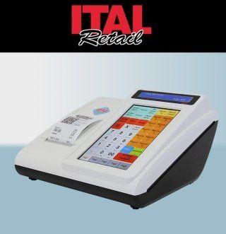 un registratore di cassa e la scritta ITAL Retail