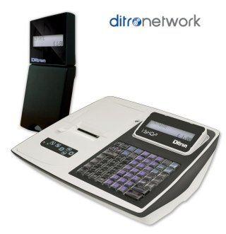 un registratore di cassa e la scritta ditronetwork