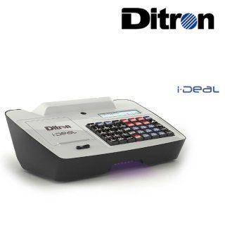 un registratore di cassa e la scritta Ditron ideal