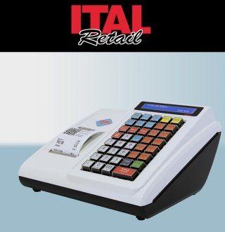 un registratore di cassa bianco e la scritta ITAL Retail
