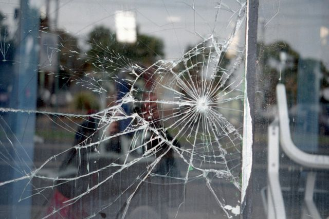 damaged glass