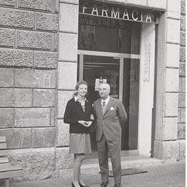Daniela Domenighini e il padre Azeglio