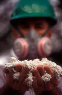 man holding wool