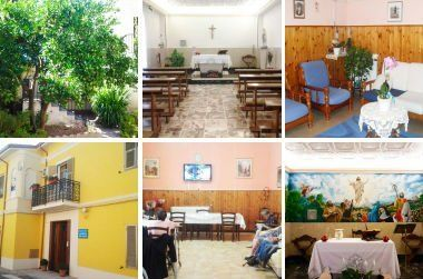 collage immagini casa di riposo