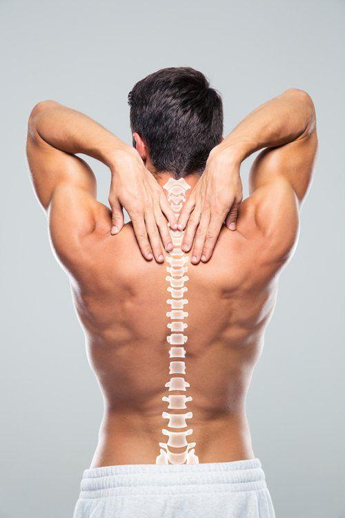 paziente con problemi alla colonna vertebrale