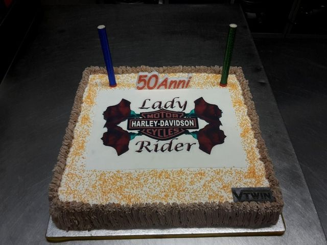 torta 50 anni LADY RIDER