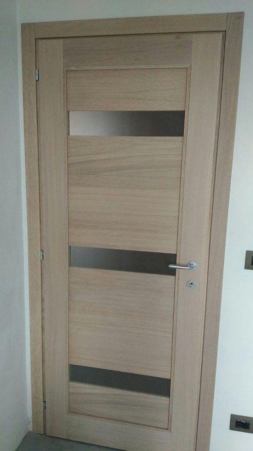 Awesome porta in legno e vetro with verniciare mobili - Laccare ante cucina ...