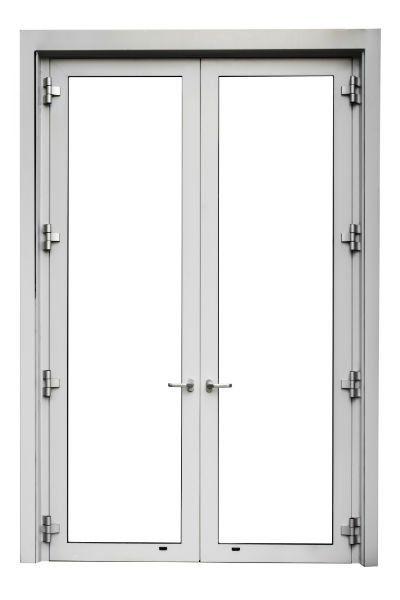 Doppia porta di alluminio