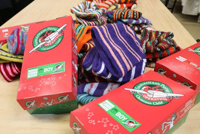 Christmas Child Boxes.Year 9 Pack Operation Christmas Child Boxes