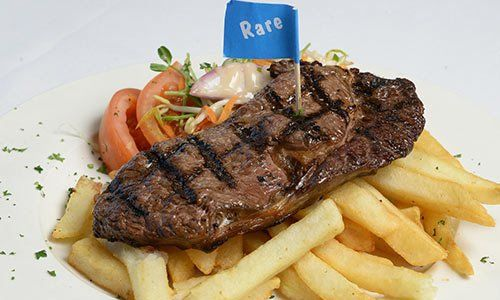 Delicious steak from Swift Sports Club's Bistro