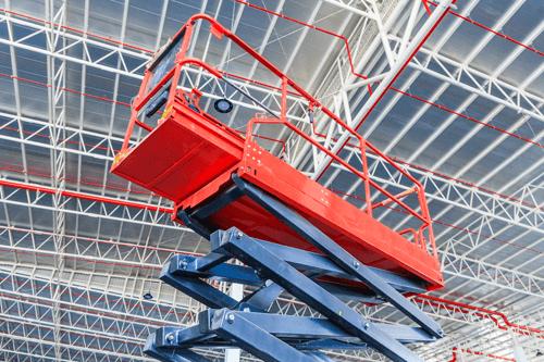 piattaforma aerea rossa