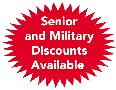 senior and military plumbing discounts