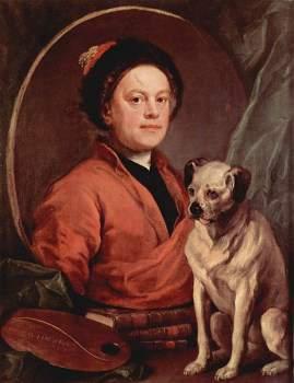 William Hogarth with Pug dog