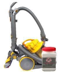 vacuum fleas with powder