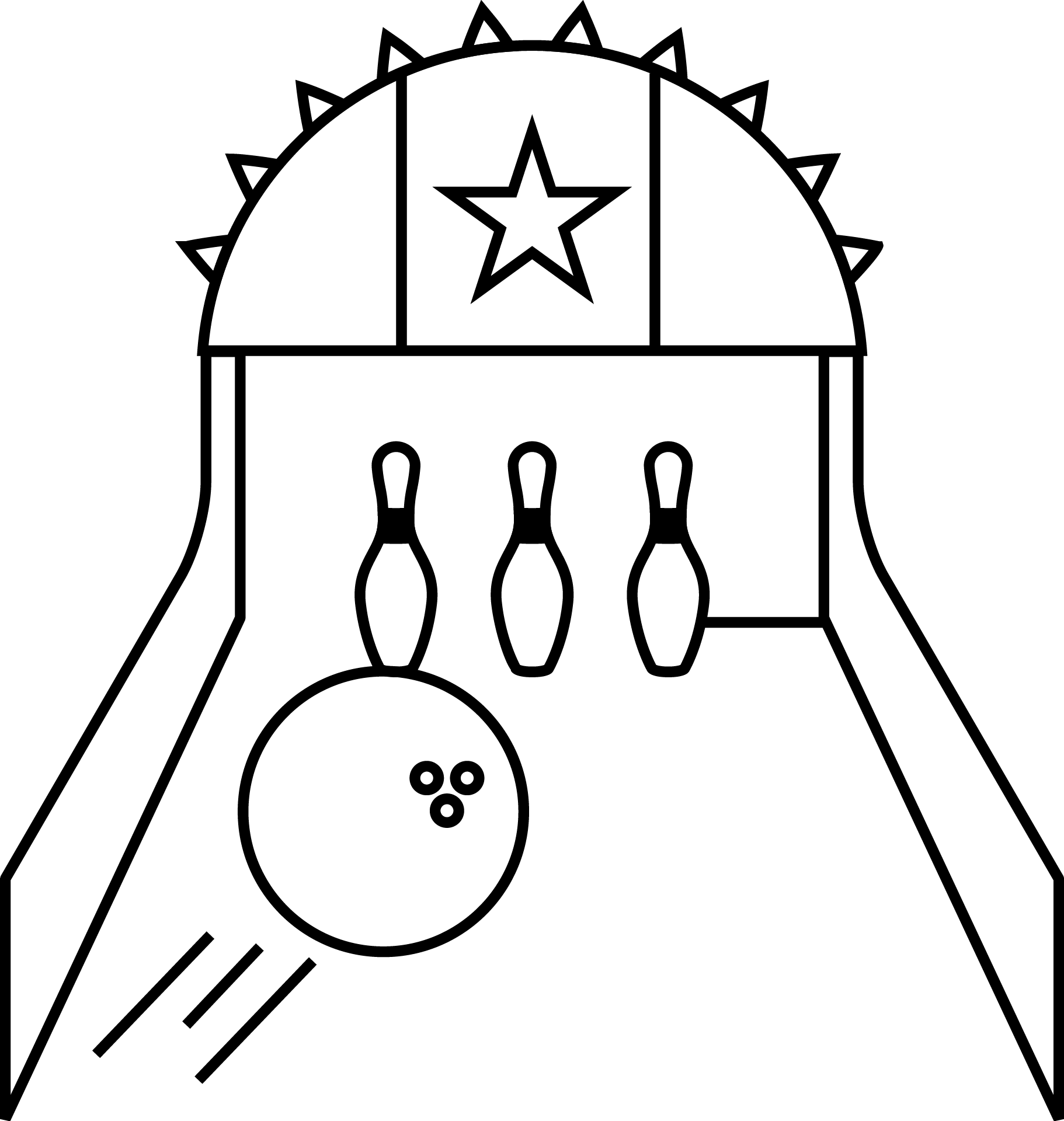 Bowling lane icon