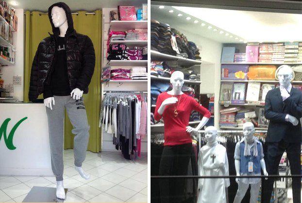 Male mannequin in negozio
