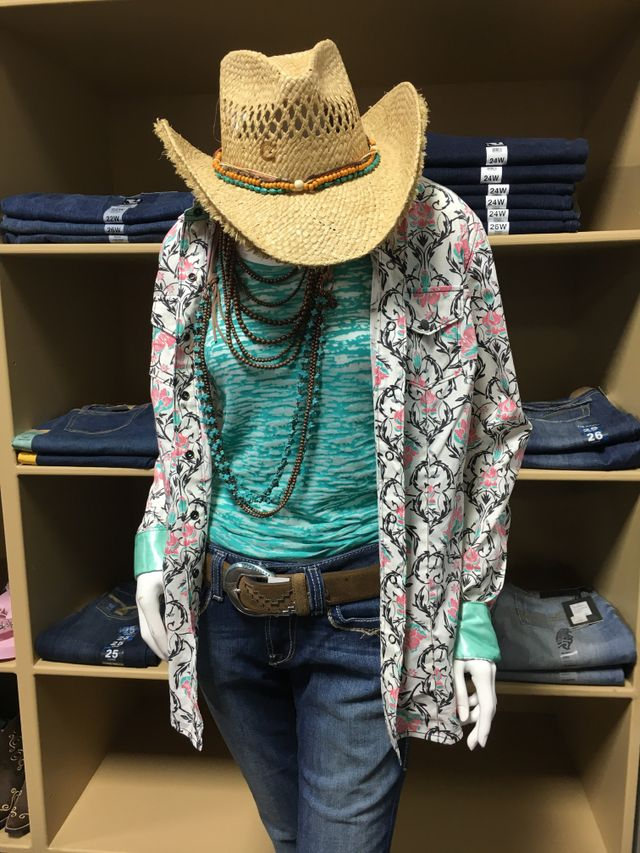 Mannequin displaying clothes