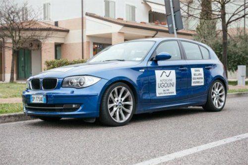 macchina azzurro modello-BMW 123 D-204 CV